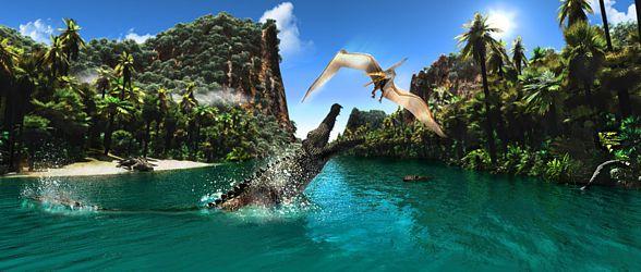 Deinosuchus vs. Pterodactylus.