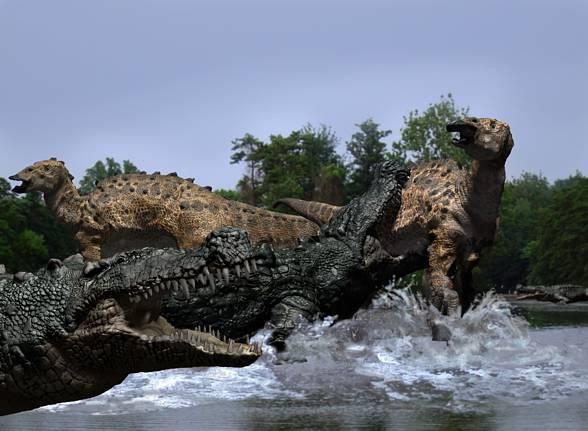 Deinosuchus' hunt.