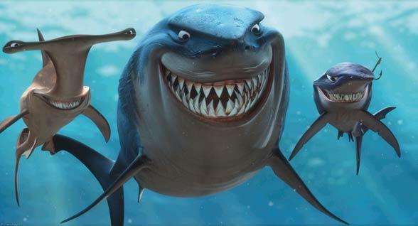 Sharks in children's movies are mostly villains...