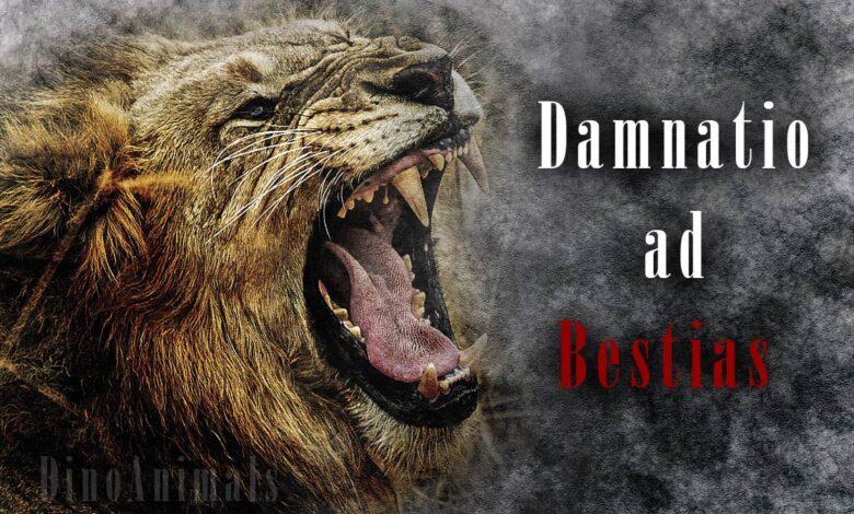 Photo of Damnatio ad bestias – condemnation to beasts