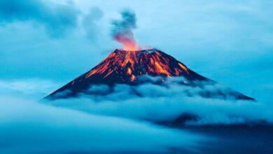 Photo of Tambora volcano eruption